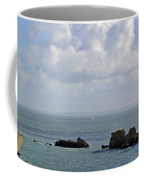 Sailing Boat Coffee Mug featuring the photograph 110202p119 by Arterra Picture Library