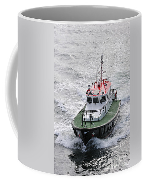 Pilot Boat Coffee Mug featuring the photograph 110221p276 by Arterra Picture Library