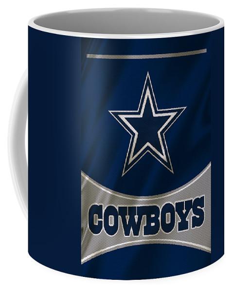 Cowboys Coffee Mug featuring the photograph Dallas Cowboys Uniform by Joe Hamilton