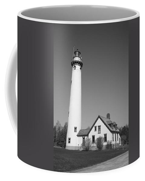 America Coffee Mug featuring the photograph Lighthouse - Presque Isle Michigan by Frank Romeo