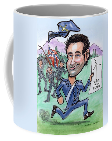 Caricature Coffee Mug featuring the digital art Pioneergreen by Kevin Middleton