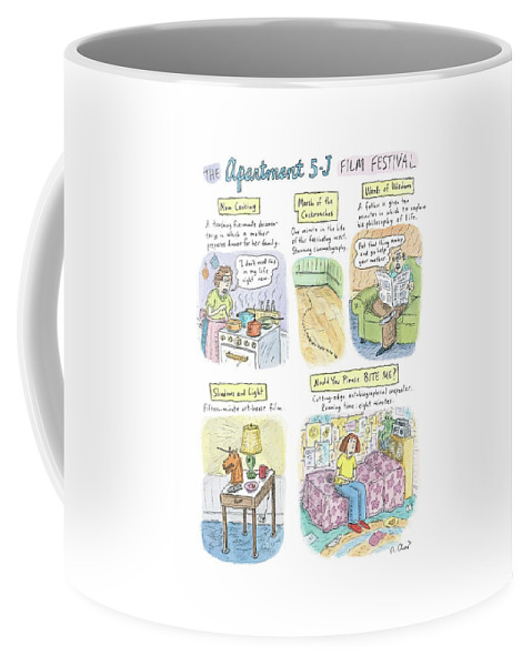 Movies Coffee Mug featuring the drawing New Yorker September 18th, 2006 by Roz Chast