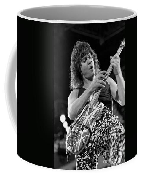 Eddie Van Halen Coffee Mug featuring the photograph Guitarist Eddie Van Halen by Concert Photos