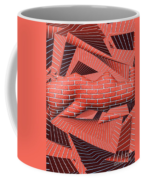 Abstract Coffee Mug featuring the digital art 1295 Abstract Thought by Chowdary V Arikatla