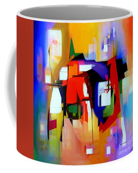 Abstract Coffee Mug featuring the digital art Abstract Series Iv by Rafael Salazar