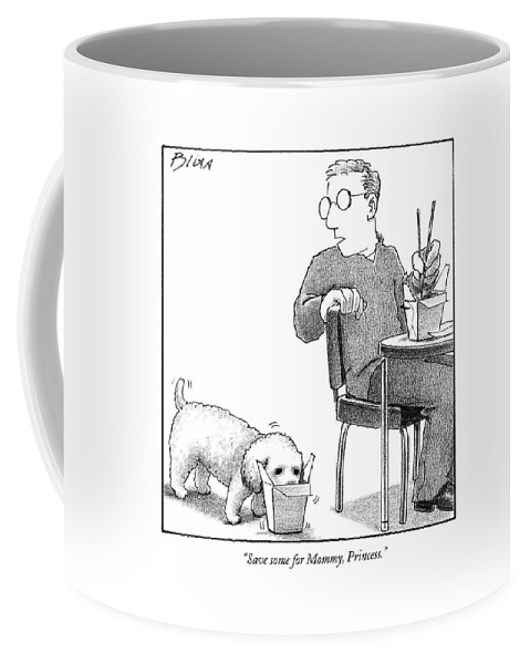 Food Coffee Mug featuring the drawing Save Some For Mommy by Harry Bliss