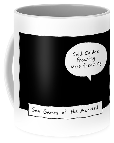 Sex Coffee Mug featuring the drawing Captionless; Sex Games Of The Married by Kim Warp