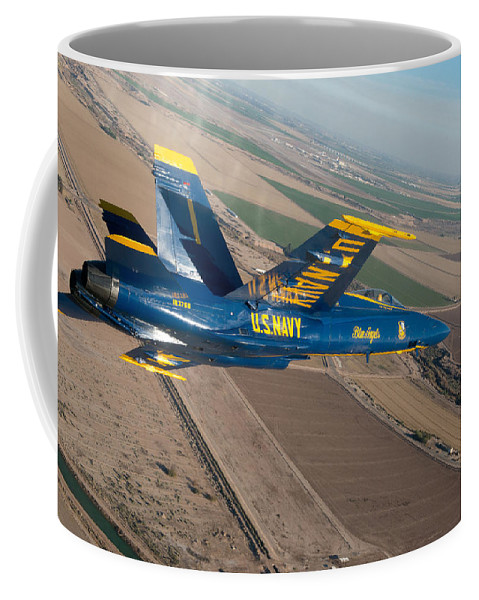 Navy Coffee Mug featuring the photograph Blue Angel by Mountain Dreams