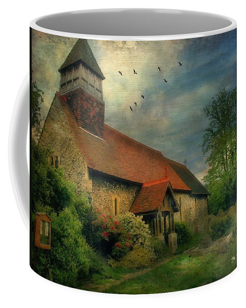 Ancient Architecture Coffee Mug featuring the photograph 13th Century Church by Fran J Scott