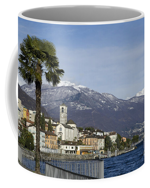 Village Coffee Mug featuring the photograph Alpine Village by Mats Silvan