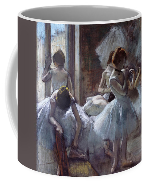 Edgar Degas Coffee Mug featuring the painting Dancers by Edgar Degas