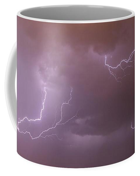 Stormscape Coffee Mug featuring the photograph Nebraska Cells Redevloping Over South Central Nebraska by NebraskaSC