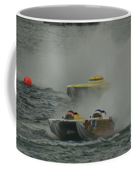 Cat Can Do Coffee Mug featuring the photograph Port Huron Sarnia International Offshore Powerboat Race by Randy J Heath