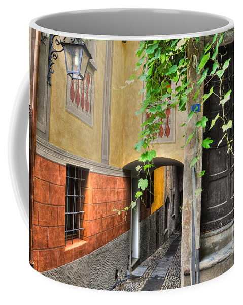 Alley Coffee Mug featuring the photograph Tight Alley by Mats Silvan
