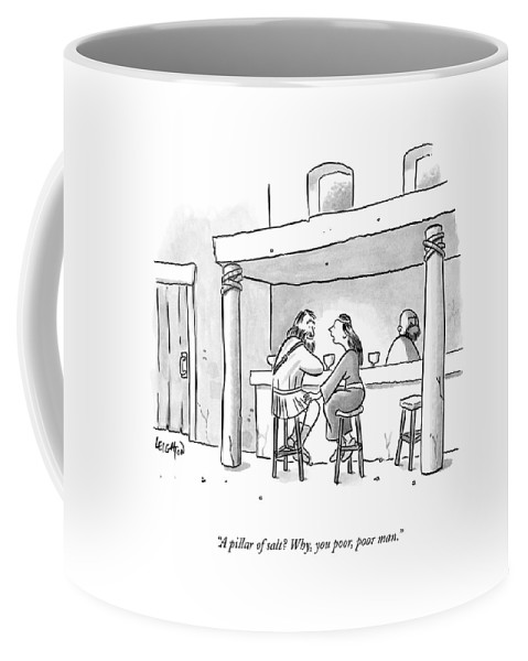 Bars Coffee Mug featuring the drawing A Pillar Of Salt? Why by Robert Leighton
