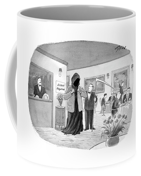 Death Coffee Mug featuring the drawing New Yorker September 25th, 2006 by Harry Bliss