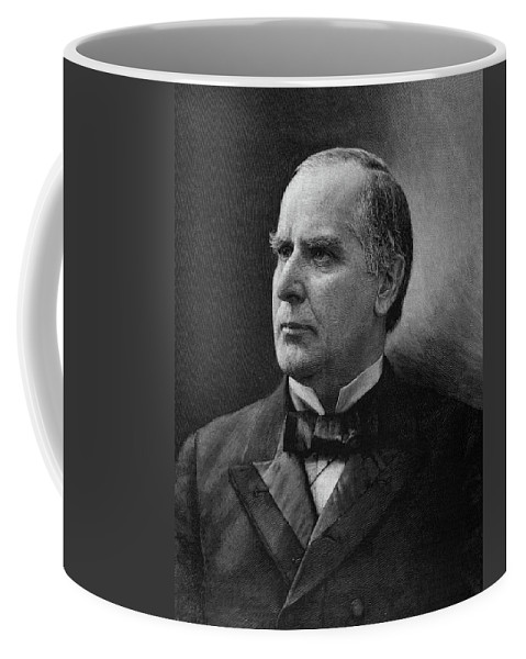 1896 Coffee Mug featuring the painting William Mckinley (1843-1901) by Granger