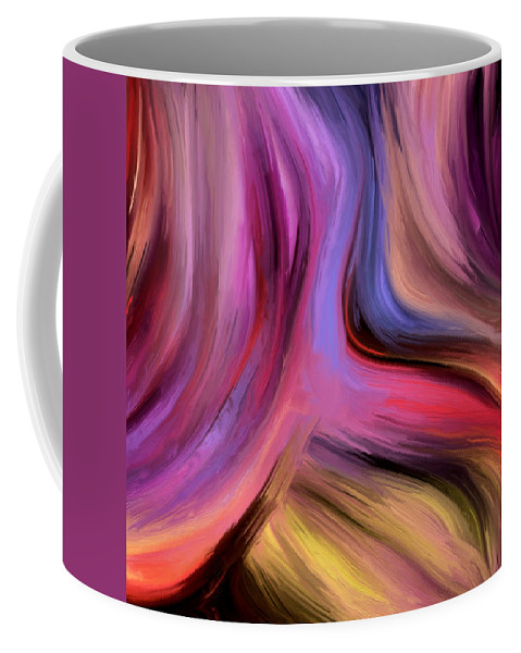 Abstract Coffee Mug featuring the painting 150a by Ely Arsha