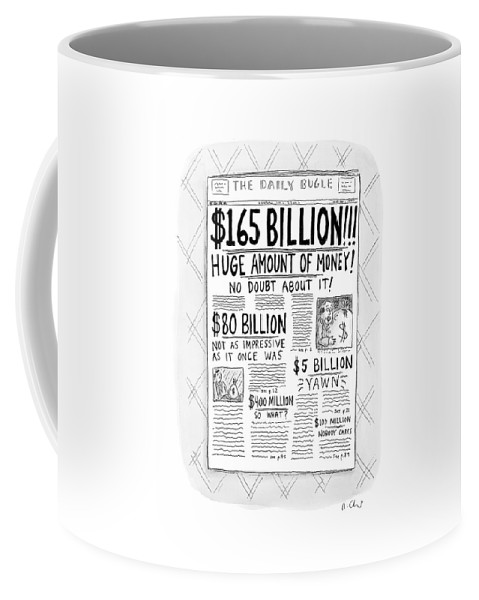 Newspapers Coffee Mug featuring the drawing New Yorker April 24th, 2000 by Roz Chast