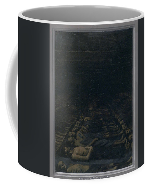 Jesus Coffee Mug featuring the painting 17. Jesus Among The Dead / From The Passion Of Christ - A Gay Vision by Douglas Blanchard