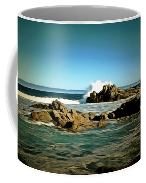 Barbara Snyder Coffee Mug featuring the painting 17 Mile Drive IIi Digital by Barbara Snyder