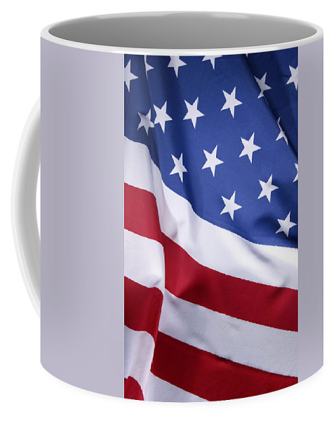 Flag Coffee Mug featuring the photograph Usa Flag by Les Cunliffe