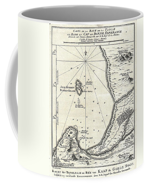 Coffee Mug featuring the photograph 1773 Bellin Map Of The Cape Of Good Hope Capetown South Africa by Paul Fearn