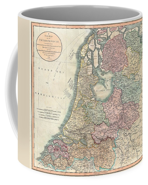 An Extremely Attractive Example Of John Cary's 1799 Map Of The Netherlands. Consists Of The Provinces Of Holland Coffee Mug featuring the photograph 1799 Cary Map Of The Netherlands by Paul Fearn