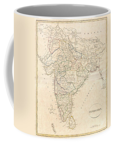 A Fine 1799 Map India Coffee Mug featuring the photograph 1799 Clement Crutwell Map Of Hindoostan by Paul Fearn