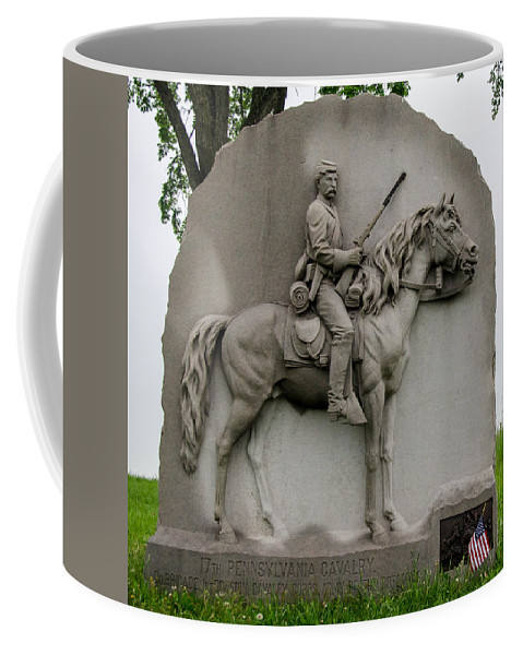 17th Pennsylvania Cavalry Coffee Mug featuring the photograph 17th Pennsylvania Cavalry by Guy Whiteley