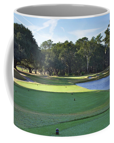 Beaufort County Coffee Mug featuring the photograph 17th Tee by Phill Doherty