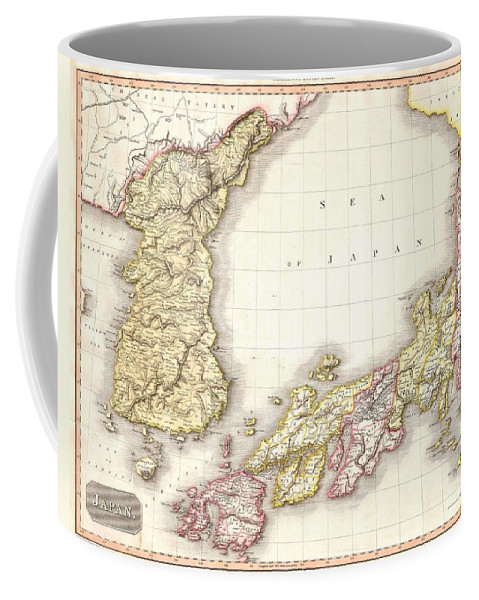 A Masterpiece. This Fascinating Hand Colored 1809 Map By Edinburgh Cartographer John Pinkerton Depicts Korea (corea) And Japan. A Spectacular Coffee Mug featuring the photograph 1809 Pinkerton Map Of Korea And Japan by Paul Fearn