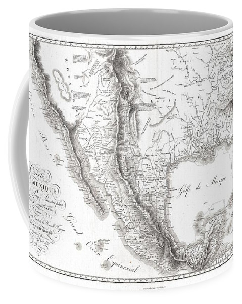 1811 Humboldt Map Of Mexico Coffee Mug featuring the photograph 1811 Humboldt Map Of Mexico Texas Louisiana And Florida by Paul Fearn