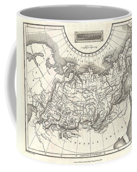 This Is A Fine 1826 Map Of Russia In Asia Coffee Mug featuring the photograph 1826 Assheton Map Of Russia In Asia by Paul Fearn