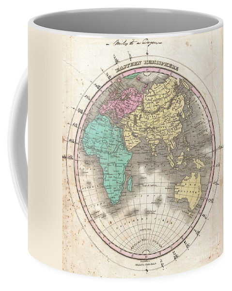This Is Finley's Desirable 1827 Map Of The Eastern Hemisphere. Includes Africa Coffee Mug featuring the photograph 1827 Finley Map Of The Eastern Hemisphere by Paul Fearn