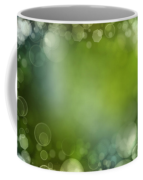 Blue Coffee Mug featuring the photograph Abstract Background by Les Cunliffe