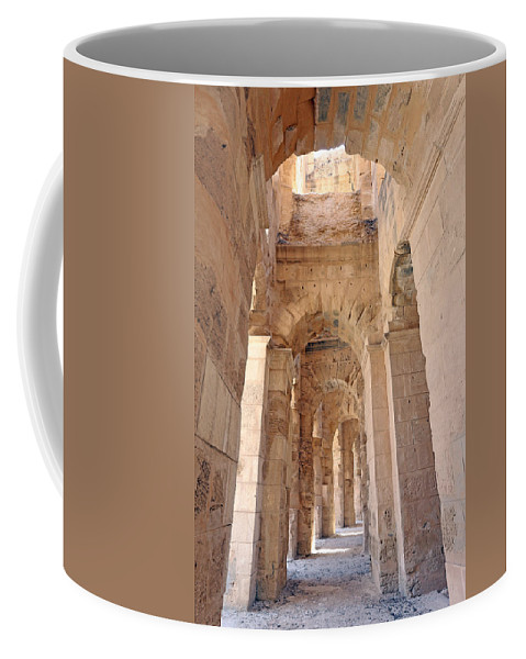 Colosseum Coffee Mug featuring the photograph Amphitheatre by Paul Fell