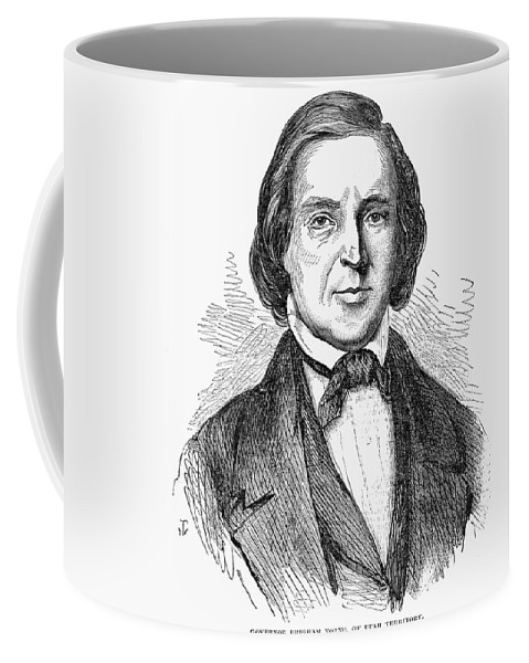 1857 Coffee Mug featuring the painting Brigham Young (1801-1877) by Granger