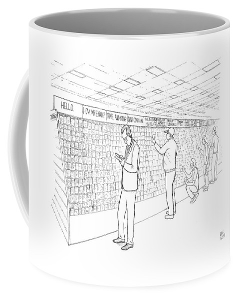 Word Play Coffee Mug featuring the drawing New Yorker July 31st, 2006 by Paul Noth