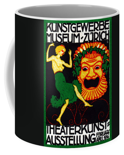 Zurich Coffee Mug featuring the painting 1914 Zurich Theater Arts Festival by Historic Image