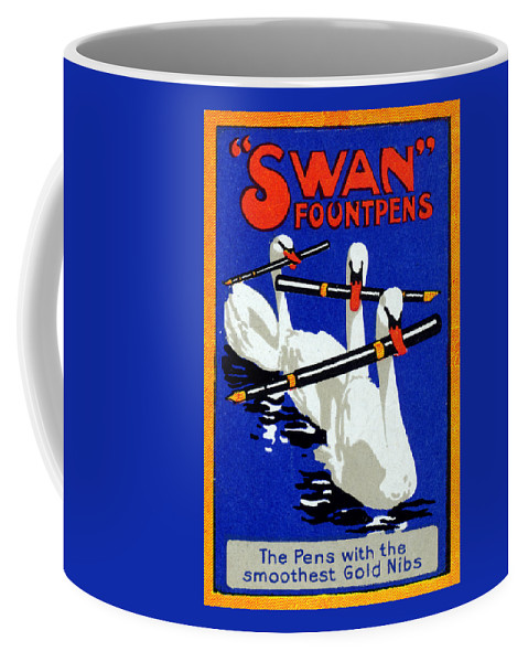 Swan Coffee Mug featuring the painting 1920 Swan Fountain Pens by Historic Image
