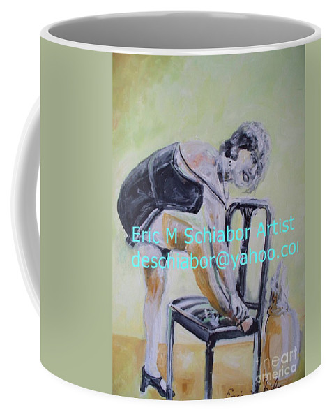 1920 Coffee Mug featuring the painting 1920s Girl by Eric Schiabor