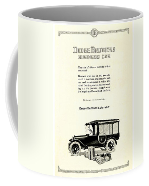 1928 Coffee Mug featuring the digital art 1921 - Dodge Brothers Business Car Truck Advertisement by John Madison