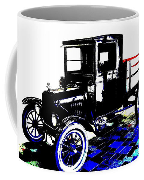 1926 Ford Model T Stakebed Coffee Mug featuring the digital art 1926 Ford Model T Stakebed by Will Borden