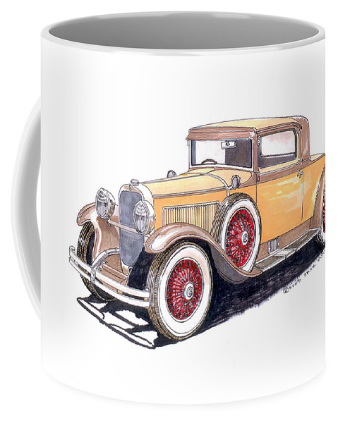 Framed Art Of The 1949 To 1961 Studebakers Coffee Mug featuring the painting 1929 Nash Advanced 6 Sport by Jack Pumphrey