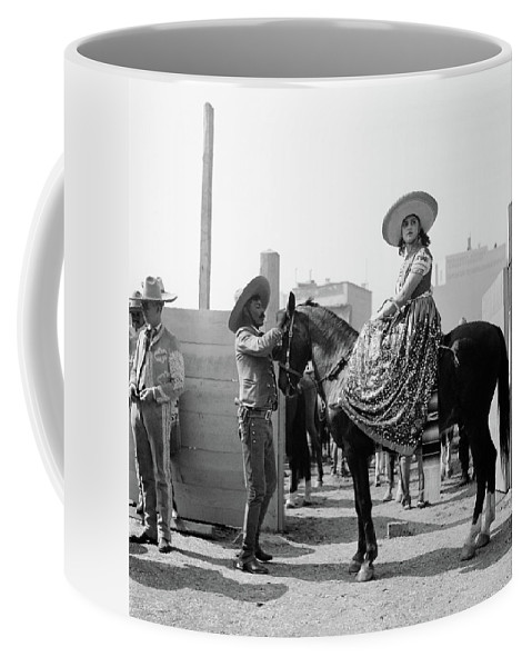 Photography Coffee Mug featuring the photograph 1930s Woman Sitting On Horse Wearing by Vintage Images