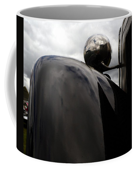 Cars Coffee Mug featuring the photograph Antique Car Fender by Karl Rose