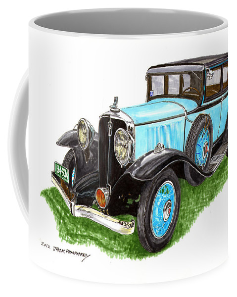 Framed Art Of The 1931 Studebaker President By Jack Pumphrey Coffee Mug featuring the painting 1931 Studebaker President by Jack Pumphrey