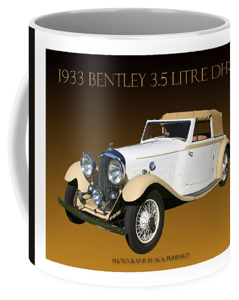 1933 Bentley 3.5 Litre Dhc Photography By Jack Pumphrey Coffee Mug featuring the photograph Bentley Derby D H C by Jack Pumphrey