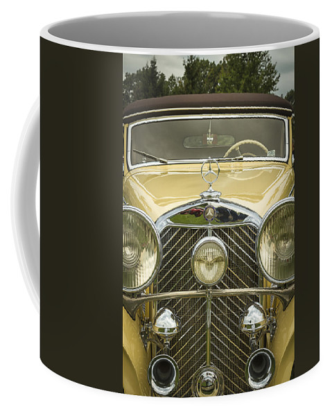 A Coffee Mug featuring the photograph 1936 Mercedes Benz by Jack R Perry